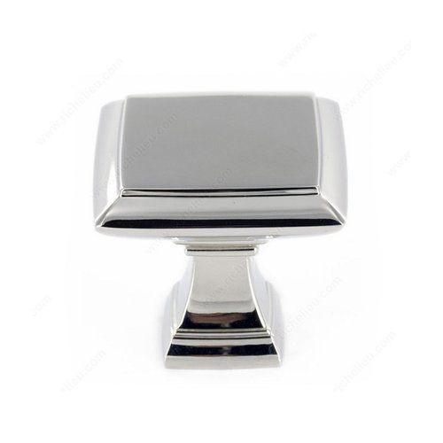 Heritage 1-1/2 Inch Diameter Polished Nickel Cabinet Knob <small>(#501238180)</small>
