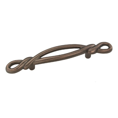 Hickory Hardware French Twist 3 Inch Center to Center Dark Antique Copper Cabinet Pull P3451-DAC