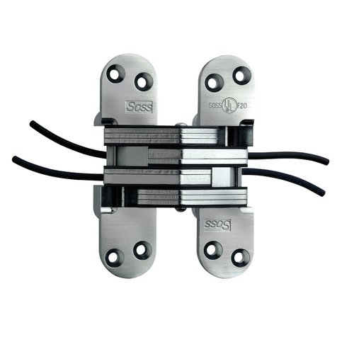 #220 Power Transfer Invisible Hinge Satin Chrome <small>(#220PT1US26D)</small>