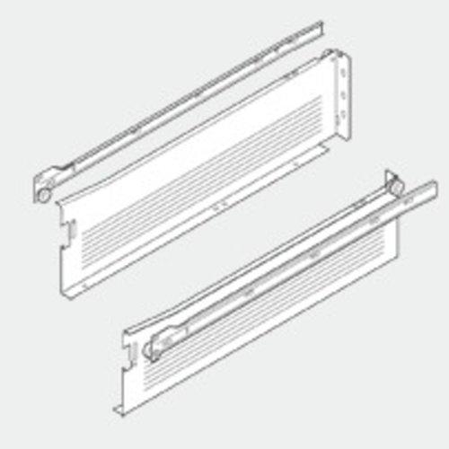 """Blum Metabox Slide 4-5/8H"""" X 22""""L - White W/ Front Fix Brackets 320K5500C15"""