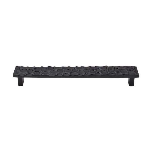Top Knobs Cobblestone 7-9/16 Inch Center to Center Coal Black Cabinet Pull TK307CB
