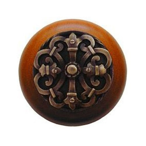 Notting Hill Olde World 1-1/2 Inch Diameter Antique Brass Cabinet Knob NHW-776C-AB