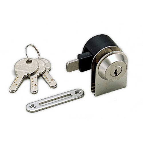 Sugatsune 1300Gl Glass Lock Keyed Different-Satin Nickel 1300GL