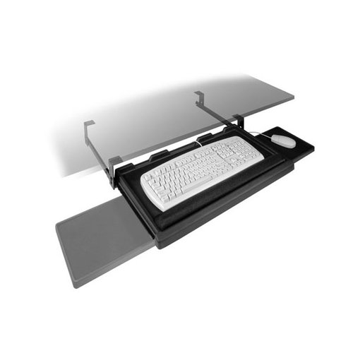 FR1602 Keyboard Tray w/ Mouse-Black <small>(#6000266)</small>