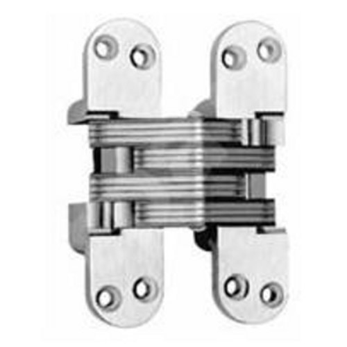Soss #418 Fire Rated Invisible Hinge Satin Brass 418US4