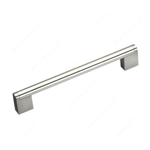Richelieu Bar Pulls 6-5/16 Inch Center to Center Brushed Nickel Cabinet Pull BP719160195