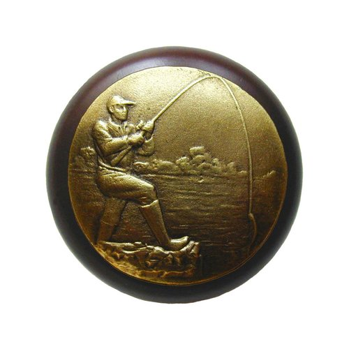 Notting Hill Great Outdoors 1-1/2 Inch Diameter Antique Brass Cabinet Knob NHW-707W-AB