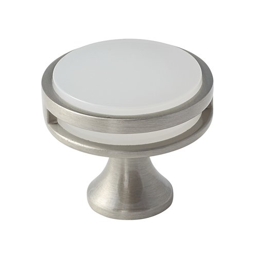 Amerock Oberon 1-3/8 Inch Diameter Golden Champagne/Frosted Acrylic Cabinet Knob BP36608G10FA