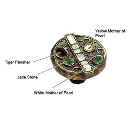 Schaub and Company Heirloom Treasures 1-1/2 Inch Diameter Dark Greenwash Cabinet Knob 952K-DGW