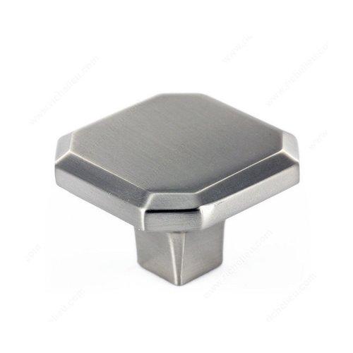 Richelieu Grace 1-5/16 Inch Diameter Brushed Nickel Cabinet Knob 392134195