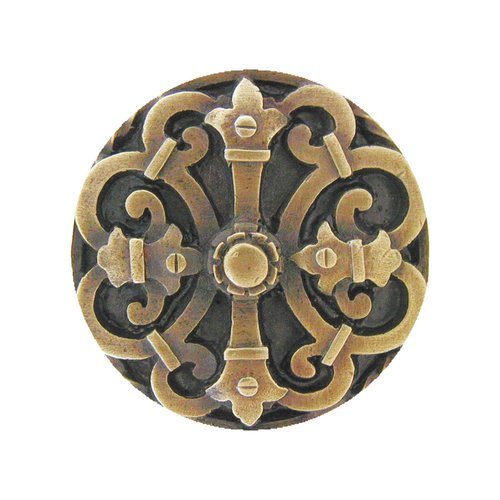 Notting Hill Olde Worlde 1-5/8 Inch Diameter Antique Brass Cabinet Knob NHK-176-AB