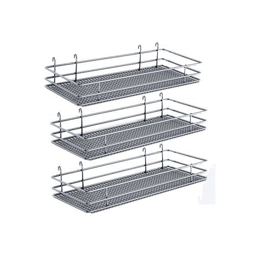 "DSA Three Basket Set 6.50"" Wide - Chrome <small>(#9000 2574)</small>"