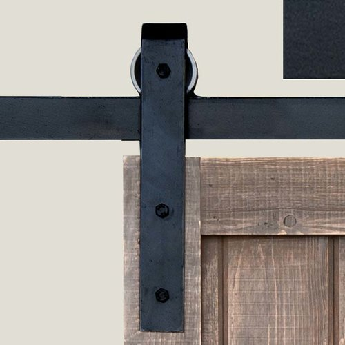 Acorn Manufacturing Basic Barn Door Rolling Hardware Smooth Iron BH1BI