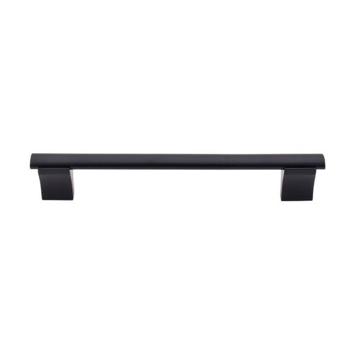 Top Knobs Bar Pull 6-5/16 Inch Center to Center Flat Black Cabinet Pull M1096