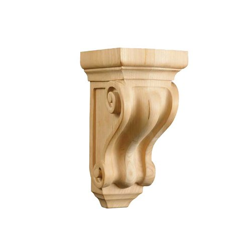 Brown Wood Small Corinthian Corbel Unfinished Hard Maple 01605001HM1