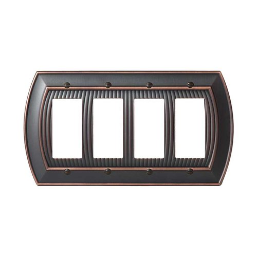 Amerock Allison Four Rocker Wall Plate Oil Rubbed Bronze BP36535ORB
