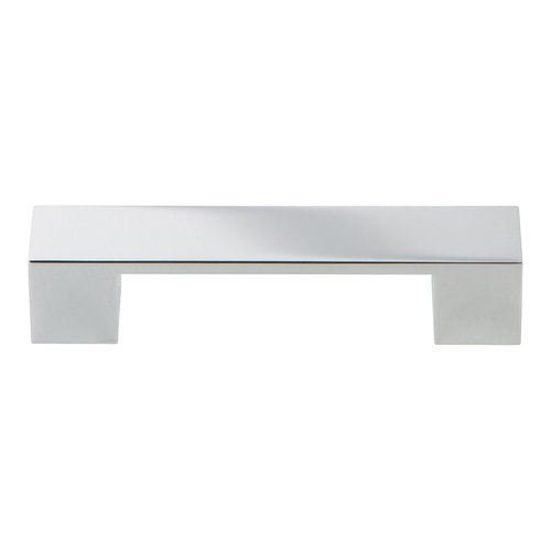 Atlas Homewares Wide Square Pull 96MM C/C Polished Chrome A918-CH