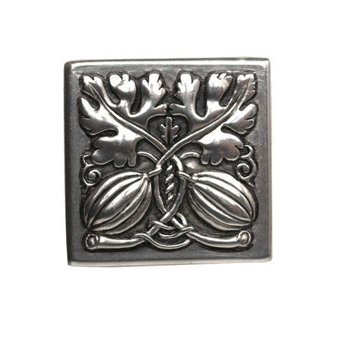 Notting Hill Kitchen Garden 1-1/2 Inch Diameter Brilliant Pewter Cabinet Knob NHK-251-BP