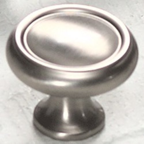 Country 1-1/4 Inch Diameter Satin Nickel Cabinet Knob <small>(#711-15)</small>