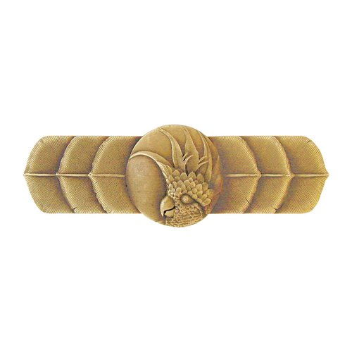Notting Hill Tropical 3 Inch Center to Center Antique Brass Cabinet Pull NHP-326-AB-R
