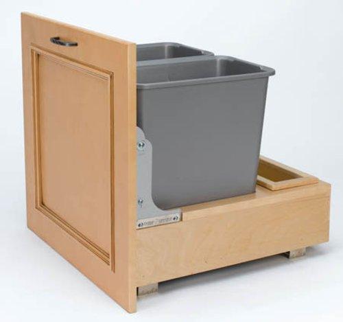 Rev-A-Shelf Double Trash Pullout 35 Quart-Wood 4WCBM-18DM-2