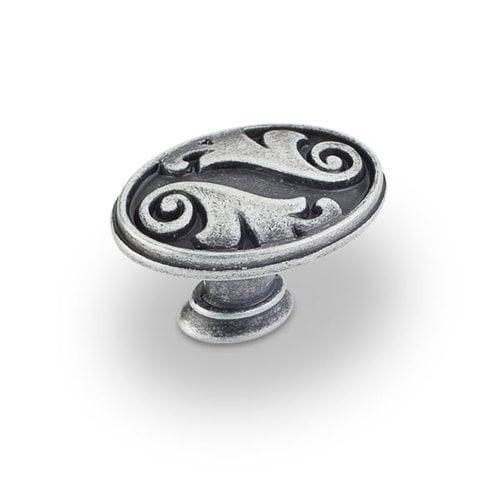 Jeffrey Alexander Regency 1-9/16 Inch Diameter Swedish Iron Machined Cabinet Knob 1097SIM