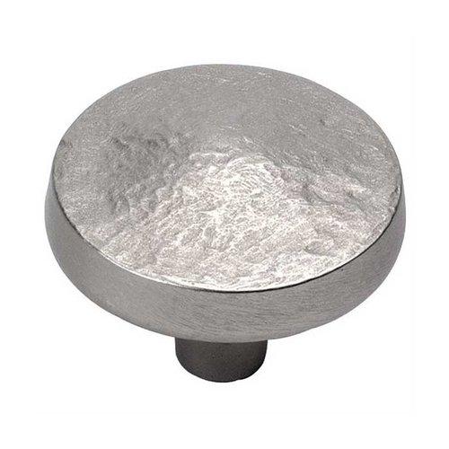 Hickory Hardware Bedrock 1-1/4 Inch Diameter Flat Nickel Cabinet Knob P3564-FN