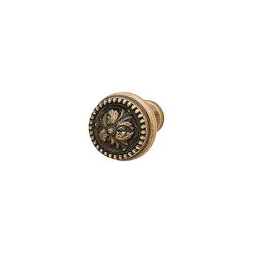 Hafele Artisan 1 Inch Diameter Antique Brass Cabinet Knob 125.86.102