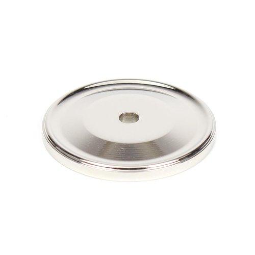Century Hardware Yukon 1-1/2 Inch Diameter Polished Nickel Back-plate 16369-14