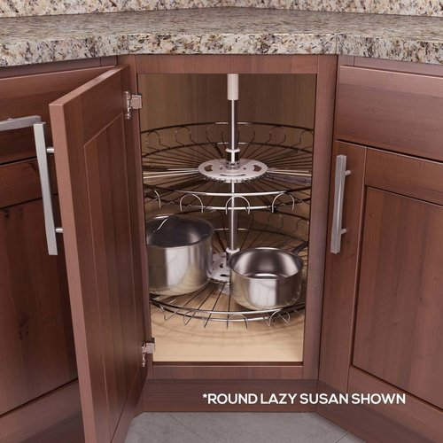 "Vauth Sagel Recorner Susan Kidney Lazy Susan 18"" Chrome 9000 2528"