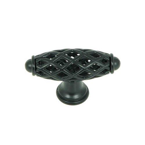 Stone Mill Hardware Sheffield 2-1/4 Inch Diameter Matte Black Cabinet Knob CP3801-MB