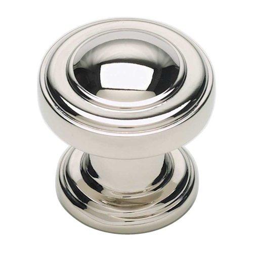 Atlas Homewares Bronte 1-1/8 Inch Diameter Polished Nickel Cabinet Knob 313-PN