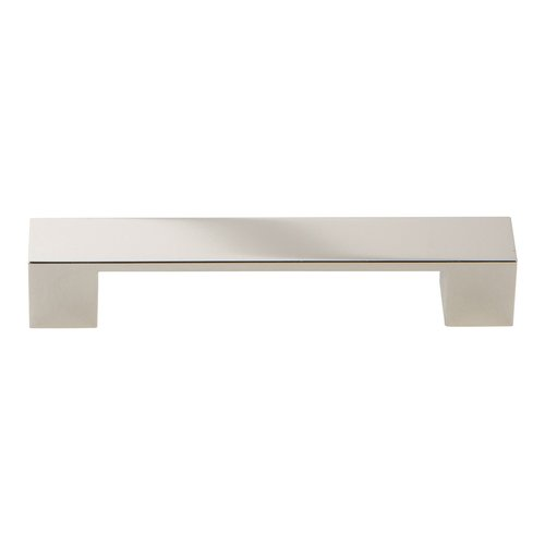 Atlas Homewares Wide Square Pull 128MM C/C Polished Nickel A919-PN