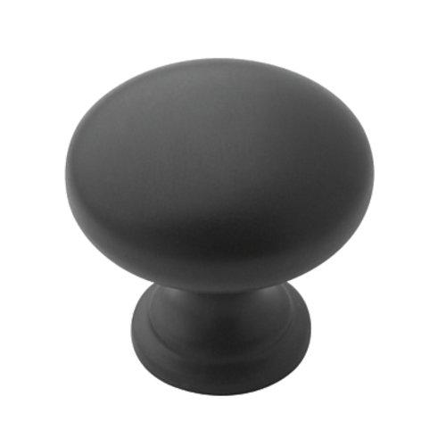 Amerock Allison Value Hardware 1-1/4 Inch Diameter Flat Black Cabinet Knob BP53023FB