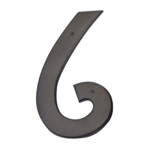Atlas Homewares Mission House Number Six Aged Bronze RCN6-O