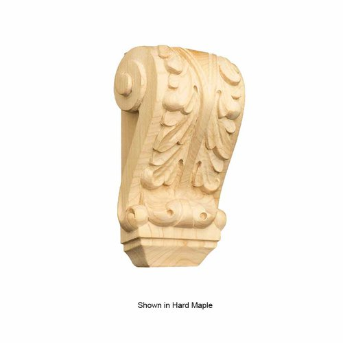 Brown Wood Petite Acanthus Corbel Unfinished Alder 01609004AL1