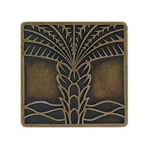 Tropical 1-1/2 Inch Diameter Antique Brass Cabinet Knob <small>(#NHK-321-AB)</small>