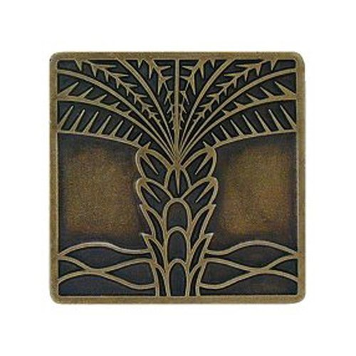 Notting Hill Tropical 1-1/2 Inch Diameter Antique Brass Cabinet Knob NHK-321-AB