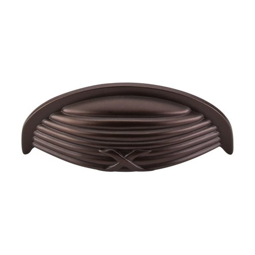 Top Knobs Edwardian 3 Inch Center to Center Oil Rubbed Bronze Cabinet Cup Pull M940