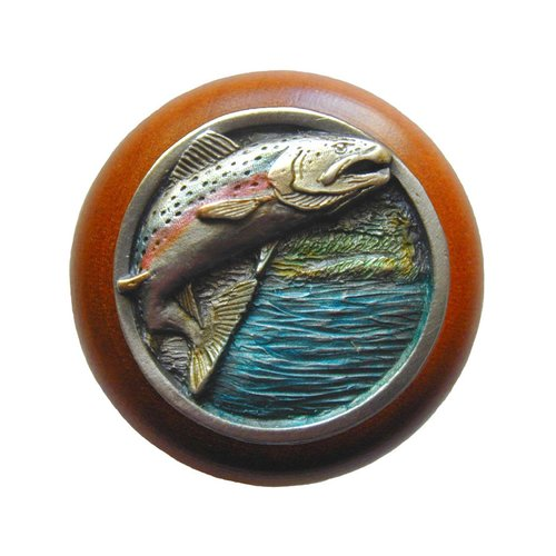 Notting Hill Great Outdoors 1-1/2 Inch Diameter Pewter Hand Tinted Cabinet Knob NHW-708C-PHT