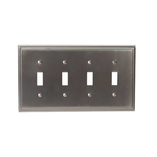 Amerock Mulholland Four Toggle Wall Plate Satin Nickel BP36517G10