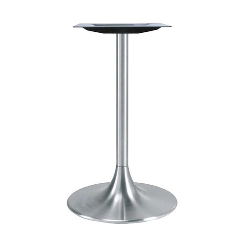 Peter Meier 22 inch Round Trumpet Table Base Brushed Aluminum 42-1/2 inch H 6022-43-AL