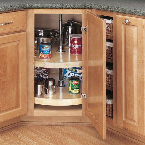 "Rev-A-Shelf Full Circle 2 Shelf Set 28"" Diameter-Wood 4WLS072-28-52"