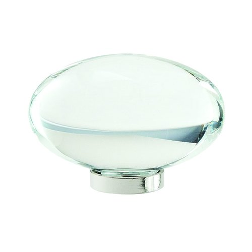 "Amerock Glacio Knob 1-3/4"" Dia Clear Crystal/Polished Nickel BP36651CPN"