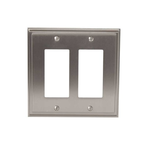 Amerock Mulholland Two Rocker Wall Plate Satin Nickel BP36519G10