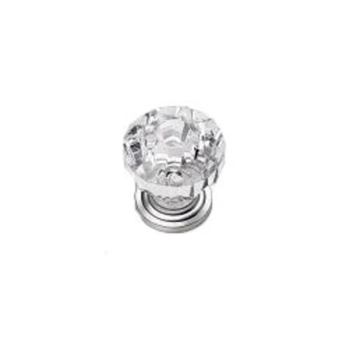 Laurey Hardware Kristal 1-3/8 Inch Diameter Acrylic/Satin Pewter Cabinet Knob 82159