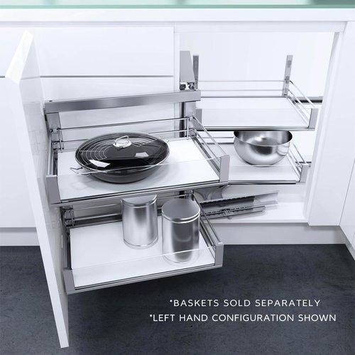 Vauth Sagel Wari Corner Right Hand Blind Corner Frame 31.50 inch Chrome 9000 4421