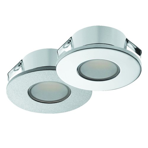 Hafele Loox 2022 12V LED Silver Spotlight Warm White 833.72.040