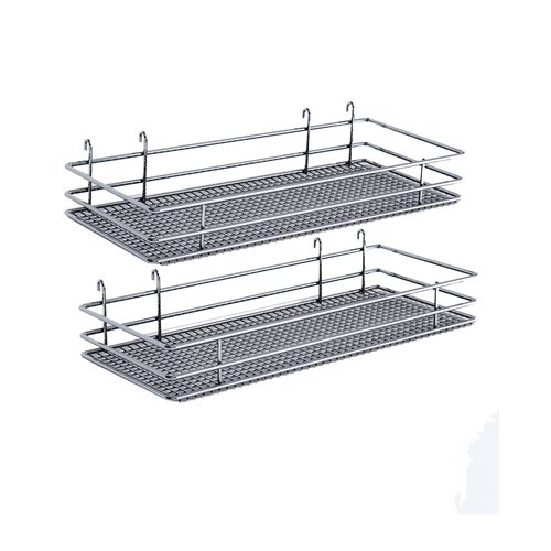 "DSA Two Basket Set 6.50"" Wide - Chrome <small>(#9000 2573)</small>"
