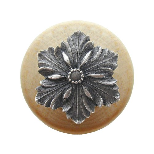 Notting Hill Classic 1-1/2 Inch Diameter Antique Pewter Cabinet Knob NHW-725N-AP